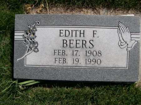 BEERS, EDITH F. - Dawes County, Nebraska | EDITH F. BEERS - Nebraska Gravestone Photos