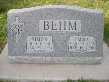 BEHM, SIMON - Dawes County, Nebraska | SIMON BEHM - Nebraska Gravestone Photos