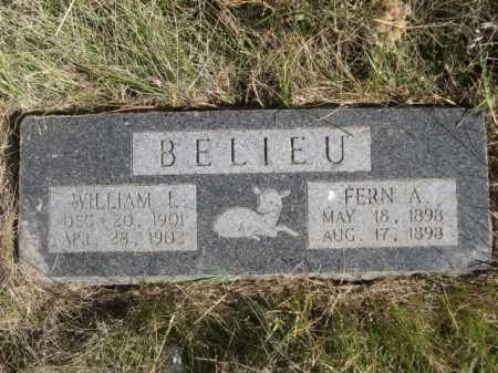 BELIEU, WILLIAM L. - Dawes County, Nebraska | WILLIAM L. BELIEU - Nebraska Gravestone Photos