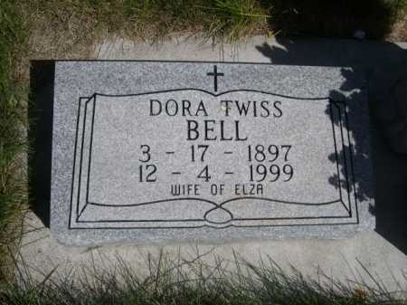 TWISS BELL, DORA TWISS - Dawes County, Nebraska | DORA TWISS TWISS BELL - Nebraska Gravestone Photos