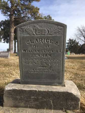 BENHAM, CLARICE A. - Dawes County, Nebraska | CLARICE A. BENHAM - Nebraska Gravestone Photos