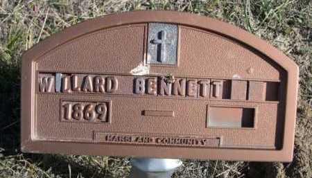BENNETT, WILLARD - Dawes County, Nebraska   WILLARD BENNETT - Nebraska Gravestone Photos