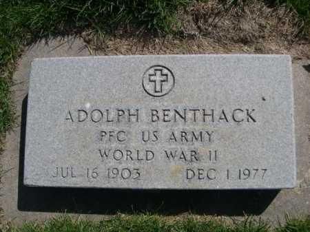 BENTHACK, ADOLPH - Dawes County, Nebraska   ADOLPH BENTHACK - Nebraska Gravestone Photos