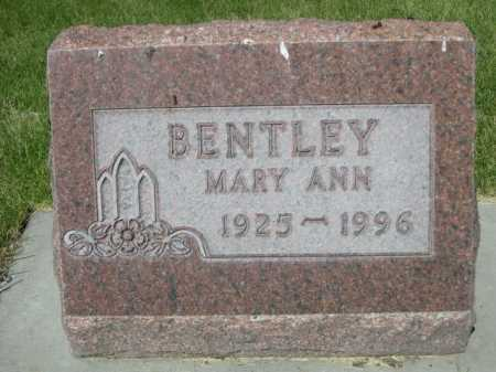 BENTLEY, MARY ANN - Dawes County, Nebraska | MARY ANN BENTLEY - Nebraska Gravestone Photos