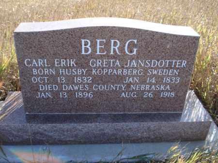 BERG, GRETA - Dawes County, Nebraska   GRETA BERG - Nebraska Gravestone Photos