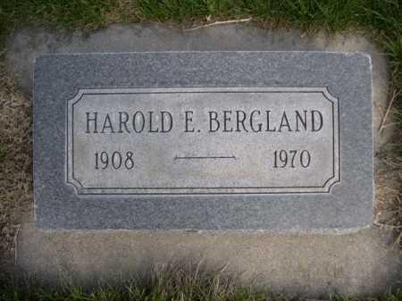 BERGLAND, HAROLD E. - Dawes County, Nebraska | HAROLD E. BERGLAND - Nebraska Gravestone Photos