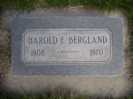BERGLAND, HAROLD E. - Dawes County, Nebraska   HAROLD E. BERGLAND - Nebraska Gravestone Photos