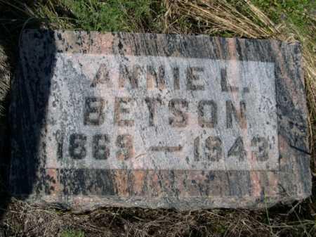 BETSON, ANNIE L. - Dawes County, Nebraska   ANNIE L. BETSON - Nebraska Gravestone Photos