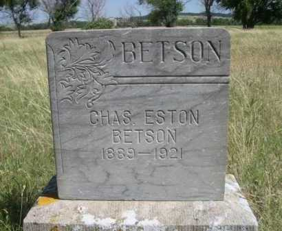 BETSON, CHAS. ESTON - Dawes County, Nebraska | CHAS. ESTON BETSON - Nebraska Gravestone Photos