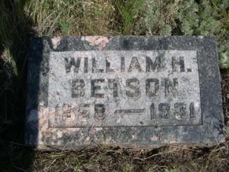 BETSON, WILLIAM H. - Dawes County, Nebraska   WILLIAM H. BETSON - Nebraska Gravestone Photos