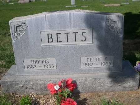 BETTS, NETTIE A. - Dawes County, Nebraska | NETTIE A. BETTS - Nebraska Gravestone Photos