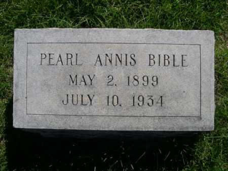 BIBLE, PEARL ANNIS - Dawes County, Nebraska | PEARL ANNIS BIBLE - Nebraska Gravestone Photos