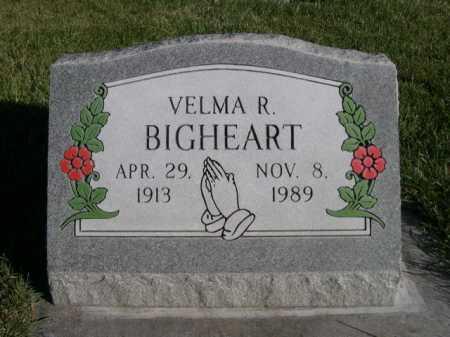 BIGHEART, VELMA R. - Dawes County, Nebraska   VELMA R. BIGHEART - Nebraska Gravestone Photos