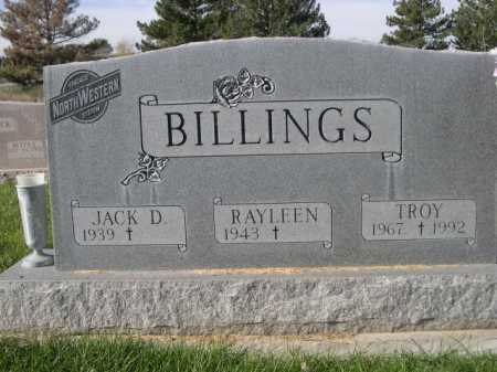 BILLINGS, TROY - Dawes County, Nebraska | TROY BILLINGS - Nebraska Gravestone Photos