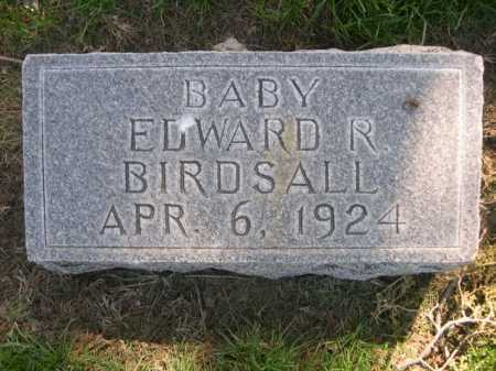 BIRDSALL, EDWARD R. - Dawes County, Nebraska | EDWARD R. BIRDSALL - Nebraska Gravestone Photos