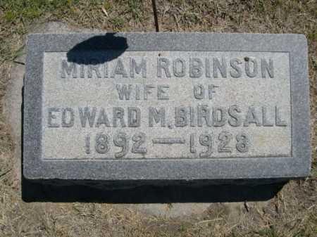 ROBINSON BIRDSALL, MIRIAM - Dawes County, Nebraska   MIRIAM ROBINSON BIRDSALL - Nebraska Gravestone Photos