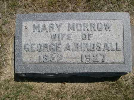 MORROW BIRDSALL, MARY - Dawes County, Nebraska | MARY MORROW BIRDSALL - Nebraska Gravestone Photos