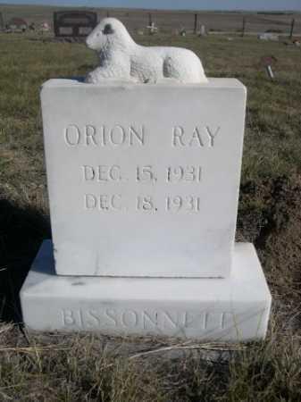 BISSONNETT, ORION RAY - Dawes County, Nebraska | ORION RAY BISSONNETT - Nebraska Gravestone Photos