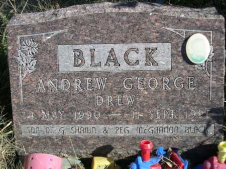 BLACK, ANDREW GEORGE DREW - Dawes County, Nebraska | ANDREW GEORGE DREW BLACK - Nebraska Gravestone Photos