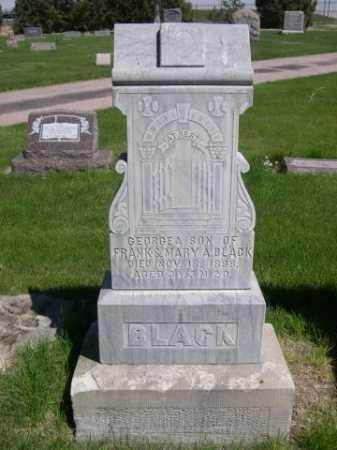 BLACK, GEORGE A. - Dawes County, Nebraska   GEORGE A. BLACK - Nebraska Gravestone Photos