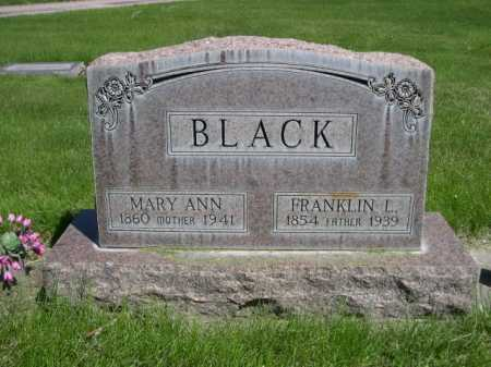 BLACK, FRANKLIN L. - Dawes County, Nebraska | FRANKLIN L. BLACK - Nebraska Gravestone Photos