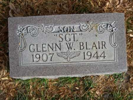 "BLAIR, ""SGT."" GLENN W. - Dawes County, Nebraska | ""SGT."" GLENN W. BLAIR - Nebraska Gravestone Photos"