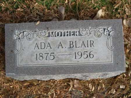 BLAIR, ADA A. - Dawes County, Nebraska | ADA A. BLAIR - Nebraska Gravestone Photos