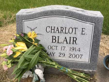 BLAIR, CHARLOT E - Dawes County, Nebraska | CHARLOT E BLAIR - Nebraska Gravestone Photos