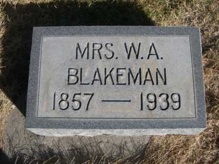 BLAKEMAN, MRS. W. A. - Dawes County, Nebraska | MRS. W. A. BLAKEMAN - Nebraska Gravestone Photos