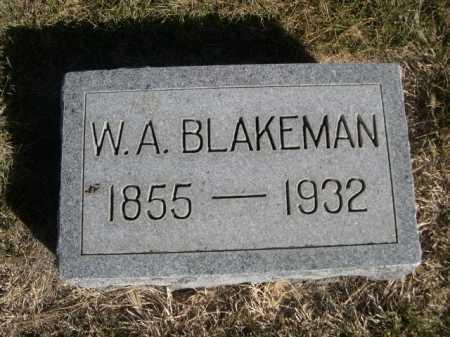 BLAKEMAN, W.A. - Dawes County, Nebraska | W.A. BLAKEMAN - Nebraska Gravestone Photos