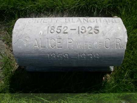 BLANCHARD, ALICE P. - Dawes County, Nebraska | ALICE P. BLANCHARD - Nebraska Gravestone Photos