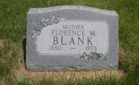 BLANK, FLORENCE M. - Dawes County, Nebraska | FLORENCE M. BLANK - Nebraska Gravestone Photos