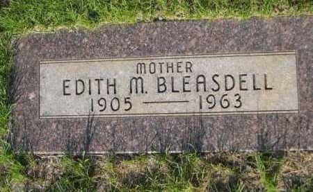 BLEASDELL, EDITH M. - Dawes County, Nebraska | EDITH M. BLEASDELL - Nebraska Gravestone Photos