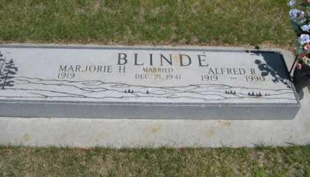 BLINDE, ALFRED R. - Dawes County, Nebraska | ALFRED R. BLINDE - Nebraska Gravestone Photos