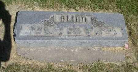 BLINN, MARY E. - Dawes County, Nebraska | MARY E. BLINN - Nebraska Gravestone Photos