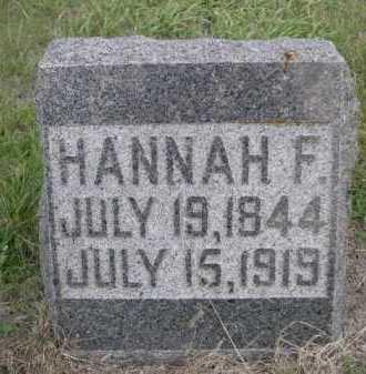 BLOOD, HANNAH F. - Dawes County, Nebraska   HANNAH F. BLOOD - Nebraska Gravestone Photos