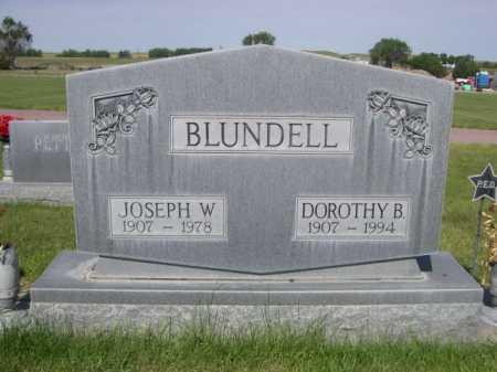 BLUNDELL, JOSEPH W. - Dawes County, Nebraska | JOSEPH W. BLUNDELL - Nebraska Gravestone Photos