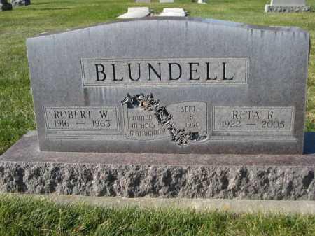 BLUNDELL, ROBERT W. - Dawes County, Nebraska | ROBERT W. BLUNDELL - Nebraska Gravestone Photos