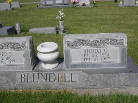 BLUNDELL, RHODA G. - Dawes County, Nebraska | RHODA G. BLUNDELL - Nebraska Gravestone Photos