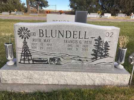 "BLUNDELL, FRANCIS G. ""PETE"" - Dawes County, Nebraska | FRANCIS G. ""PETE"" BLUNDELL - Nebraska Gravestone Photos"