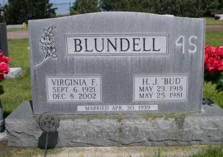"""BLUNDELL, H. J. """"BUD"""" - Dawes County, Nebraska   H. J. """"BUD"""" BLUNDELL - Nebraska Gravestone Photos"""