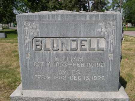 BLUNDELL, AYLES - Dawes County, Nebraska   AYLES BLUNDELL - Nebraska Gravestone Photos