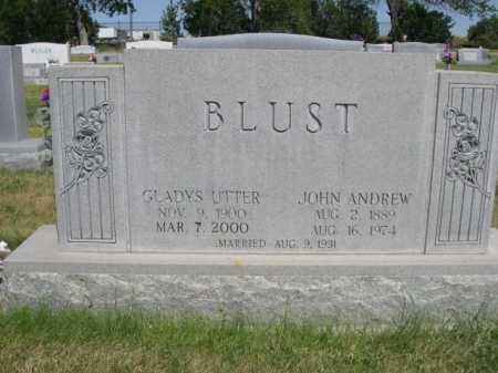 BLUST, GLADYS UTTER - Dawes County, Nebraska | GLADYS UTTER BLUST - Nebraska Gravestone Photos