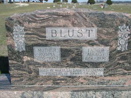 BLUST, AUGUST - Dawes County, Nebraska | AUGUST BLUST - Nebraska Gravestone Photos