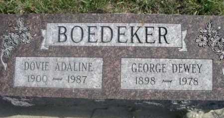 BOEDEKER, GEORGE DEWEY - Dawes County, Nebraska | GEORGE DEWEY BOEDEKER - Nebraska Gravestone Photos
