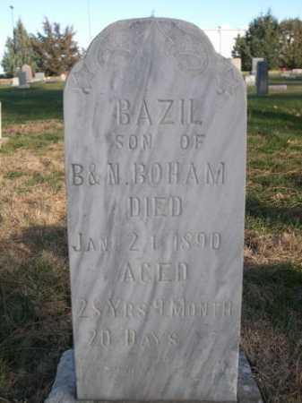 BOHAM, BAZIL - Dawes County, Nebraska | BAZIL BOHAM - Nebraska Gravestone Photos
