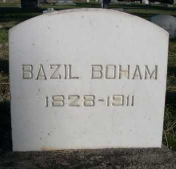 BOHAM, BAZIL - Dawes County, Nebraska   BAZIL BOHAM - Nebraska Gravestone Photos