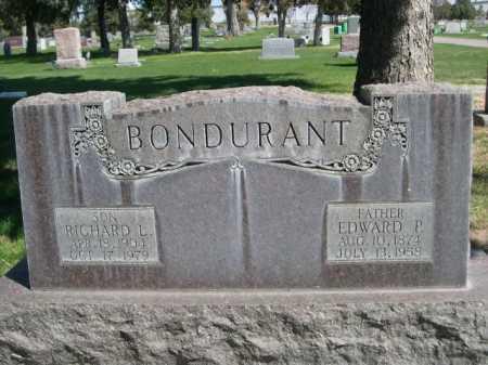 BONDURANT, EDWARD P. - Dawes County, Nebraska | EDWARD P. BONDURANT - Nebraska Gravestone Photos
