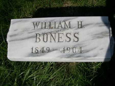 BONESS, WILLIAM H - Dawes County, Nebraska   WILLIAM H BONESS - Nebraska Gravestone Photos