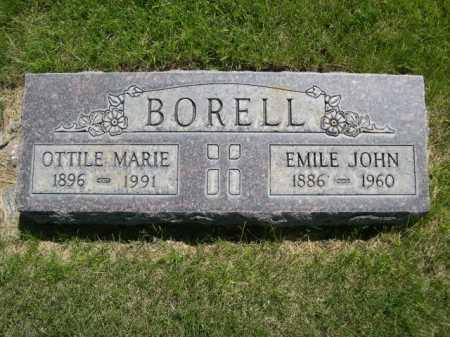 BORELL, EMILE JOHN - Dawes County, Nebraska | EMILE JOHN BORELL - Nebraska Gravestone Photos